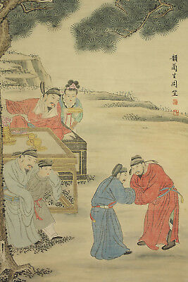 "CHINESE HANGING SCROLL ""Figure Painting""  @e519"