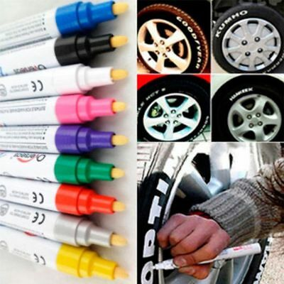 Metal Oil Rubber Tread Car Tyre Waterproof Paint Pen Marker Permanent Art Pens