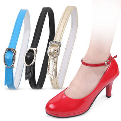 Detachable Leather Shoe Straps Band For Holding Loose High Heeled Shoes Decor