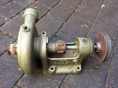 Australian Ajax centrifugal water pump and pulley suit vintage stationary engine