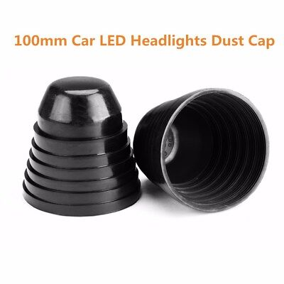2× 100mm Rubber Dust Seal Cover Cap For Universal Car LED HID Headlight Retrofit