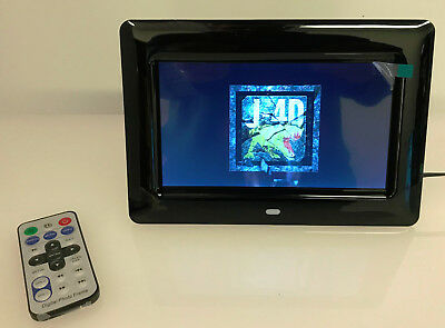 "Remote Control 7"" TFT LCD Digital Photo Video & Audio Frame 800 x 480"