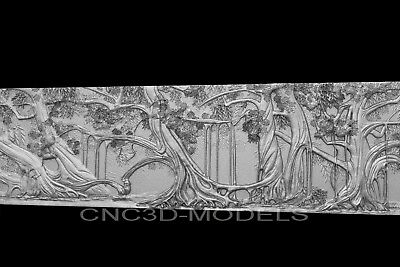 3D Model STL for CNC Router Carving Artcam Aspire Forest Tree Decor Pano g686
