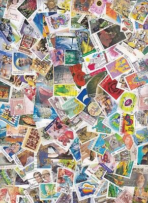 100 Off Paper Good Mix Different Australian Stamps Used Bulk Lot FREE POST IN OZ