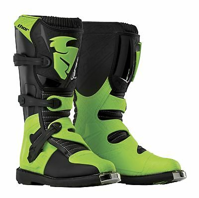 Thor Youth Blitz CE Motocross Boots in Black/Green