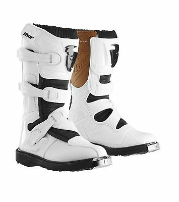 Thor Youth Blitz CE Motocross Boots in White