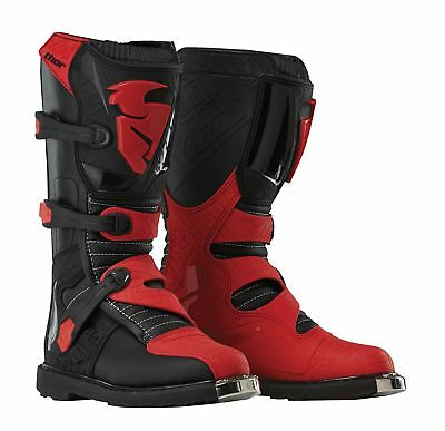 Thor Youth Blitz CE Motocross Boots in Black/Red