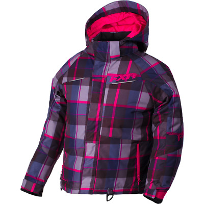 FXR Ch Fresh Jacket Fuchsia/Wineberry Plaid