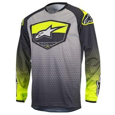 Alpinestars Racer Supermatic Jersey in Anthracite/Yellow/Gray