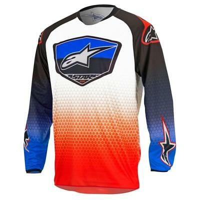 Alpinestars Racer Supermatic Jersey in Red/Blue/White