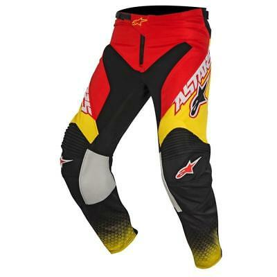 Alpinestars Racer Supermatic Pants in Red/Black/Yellow