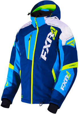 FXR M Mission FX Jacket Navy/Blue/Hi-Vis/White Weave