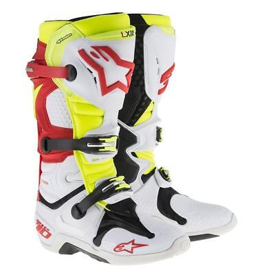 Alpinestars Tech 10 Motocross/Off-road Boot in White/Red/Yellow