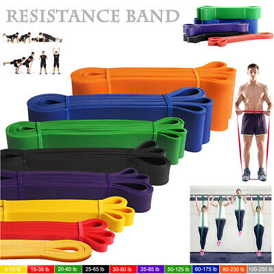 Heavy Duty Resistance Band Pull up Loop Exercise Yoga Workout Power Gym Fitness