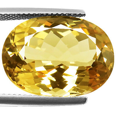 14.44ct 100% Natural earth mined top quality golden yellow color beryl brazil