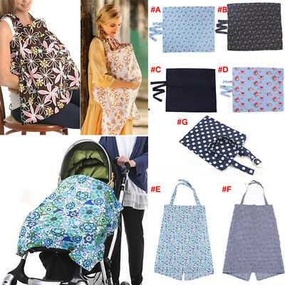 100% Breathable Cotton 3 in 1 Baby Breastfeeding Nursing Cover Generous Blankets
