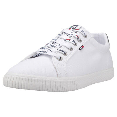 Tommy Hilfiger Tommy Jeans Casual Sneaker Donna White Silver Scarpe  - 39 EU
