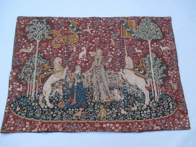 Old French / Belgium Tapestry Wall Hanging - 100 x 70 cm ( 4548 )