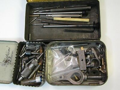 3 x Tins of Lathe, Jacot and Drill Tools