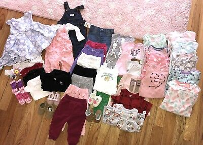 Baby Girl Clothes & Shoes 0-18 months lot 42 items Carter's, Old Navy, Oshkosh