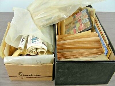 WW, MEMEL, BRITISH COLONIES, 5000+ Stamps in glassines & others(2 boxes)