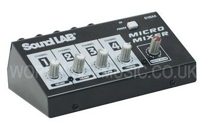 SoundLAB 4 Channel Mono Microphone / Line Mixer