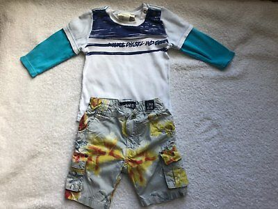 Lot of 2 Diesel Top and Timberland shorts Age 6M