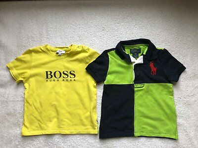 Lot of 2 Boy Tops Boss and Polo Age 2
