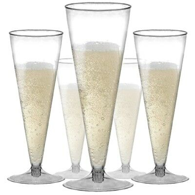 CHAMPAGNE FLUTES Wedding/Party Strong Plastic Prosecco/Wine Drinking Glass Cup