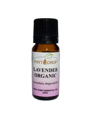PHYTODROP Organic Lavender Essential Oil 100% Pure 1ml 10ml 50ml 100ml Natural
