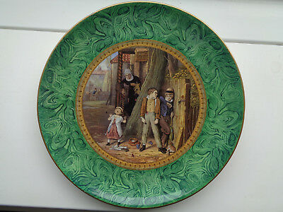 THE BULLY  MALACHITE 9 1/2inch PLATE    MINT CONDITION   Ex CROWTHER COLLECTION