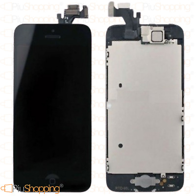 Display Iphone 5 Assemblato Completo Fotocamera Tasto Home Altoparlante Nero