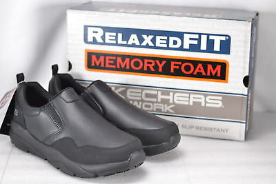 Men's Skechers Resterly Work Shoes Black