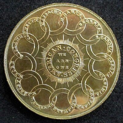 DICKESON's RE-STRIKE • 1776 Continental Currency Dollar • GOLDLINE • Low Mintage