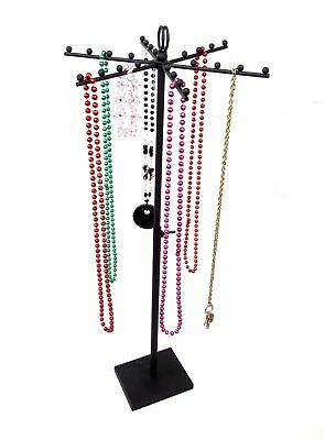 Adjustable Height 24 Ball T-bar Jewelry Display Purse Stand Hanger Sign Holder