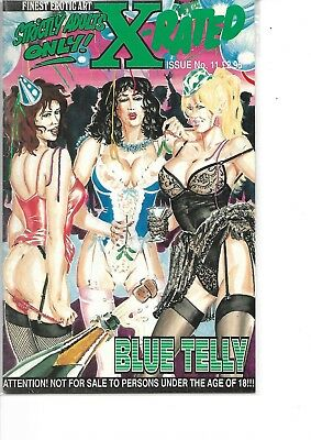 Finest Erotic Art X-Rated Blue Telly Comic #11 1994 Vfn Condition Rare