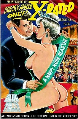 Finest Erotic Art X-Rated Blue Telly Comic #12 1994 Vfn Condition Rare
