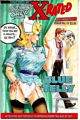 Finest Erotic Art X-Rated Blue Telly Comic #13 1994 Vfn Condition Rare