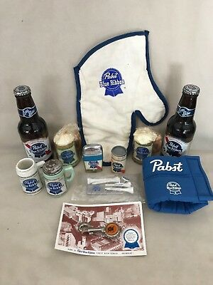 LARGE LOT of Miscellaneous Pabst Blue Ribbon Beer Advertising Bottles Lighter