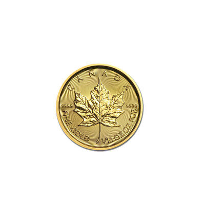 1/10 oz Canadian Gold Maple Leaf $5 Coin .9999 Fine Random Date