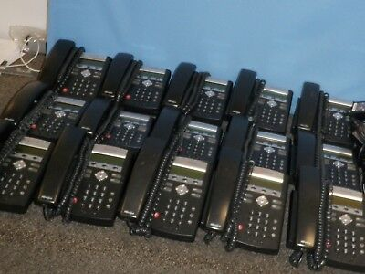 Lot of 15 Polycom IP 335 Office Phones with Stand
