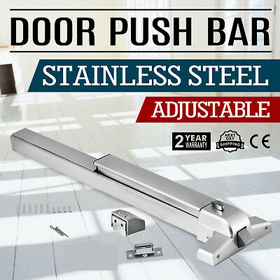 Panic Push Bar Exit Device Fits 28 to 36 inch doors Stainless Steel