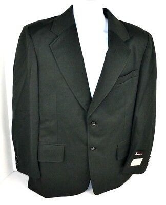 Vtg 1970's Envoy Men's Double Knit Polyester Solid Blazer Sport Coat, Green 42 R