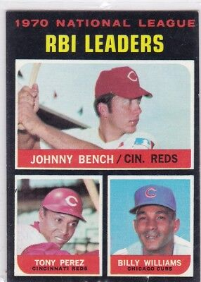 Topps 1971 RBI Leaders Bench / Perez / Williams #64 Reds & Cubs