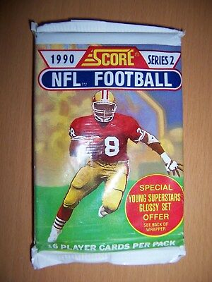 Score NFL Football 1990 Series 2 Young Superstars Set 16 Player Cards Neu OVP