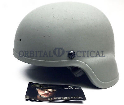 Revision Viper Batlskin Ach Combat Helmet Made W/ Kevlar 3A Rated Grey Small