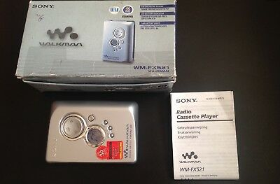 Sony Walkman Digital Radio Cassette Player Wm-Fx21 *boxed*  * Retro Collectable*