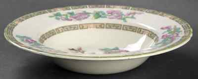 Myott Staffordshire INDIAN TREE GREEN (SCALLOPED) Rimmed Soup Bowl S409771G3