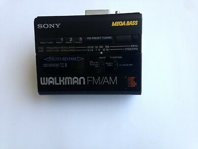 Walkman Radio Cassette Player Wm-Bf64 *made In Japan* *1988 Retro Collectable*
