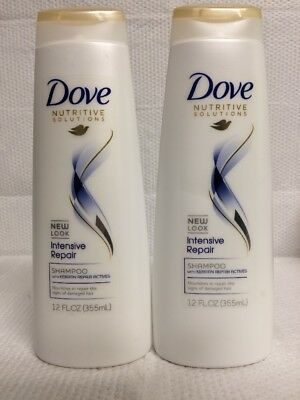 Lot Of 2 Dove Intensive Repair Shampoo W/ Keratin Actives For Damaged Hair